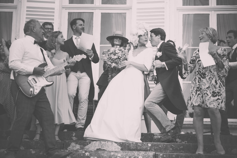 Danse des mariés prise sur le vif lors d'un mariage sur lyon