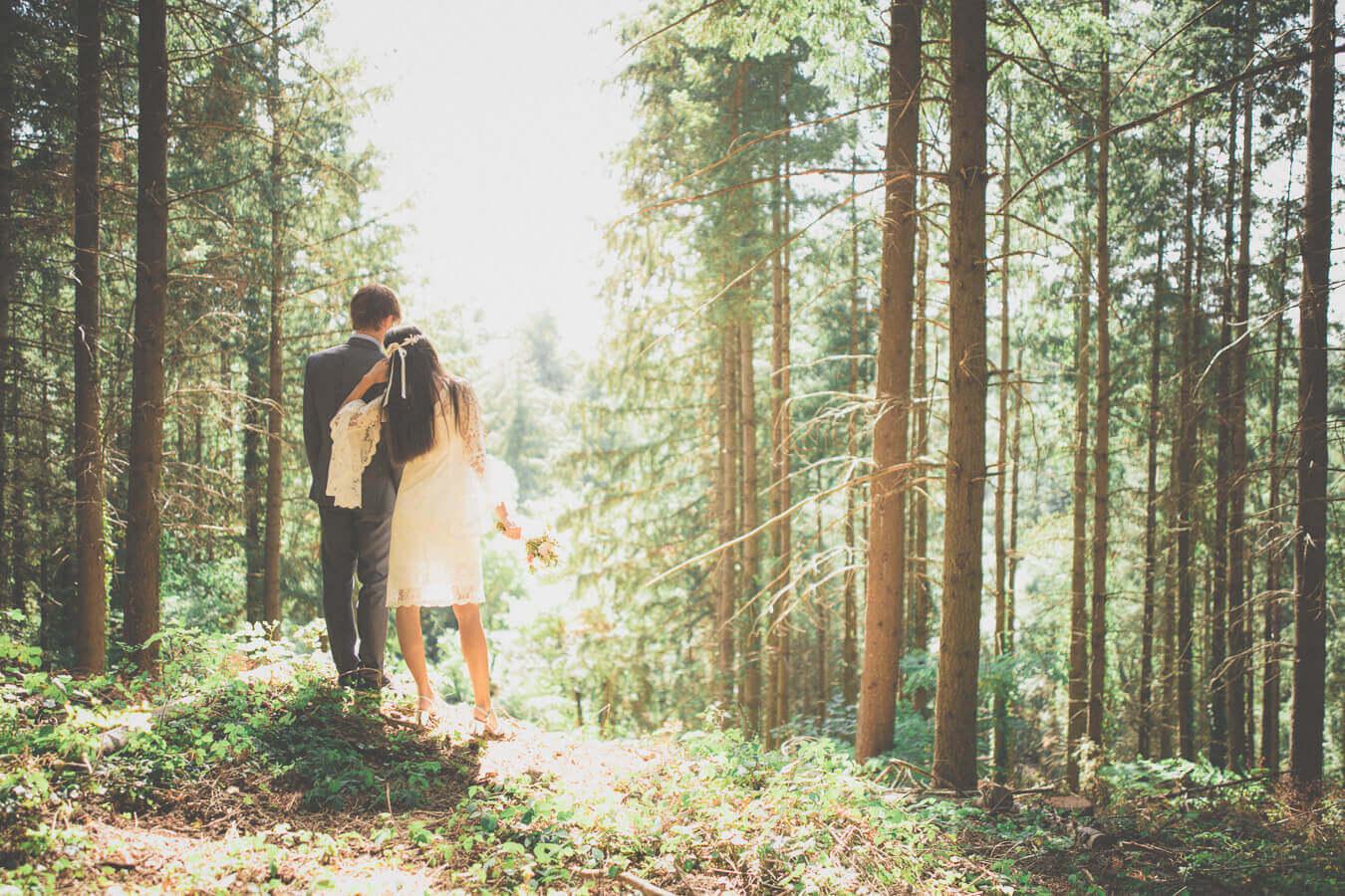 mariage en forêt photographe banlieue lyonnaise